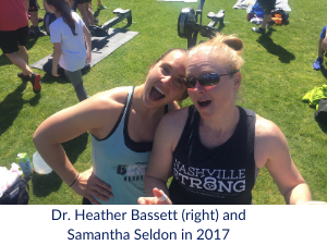 Heather Bassett, MD and Samantha Seldon in 2017