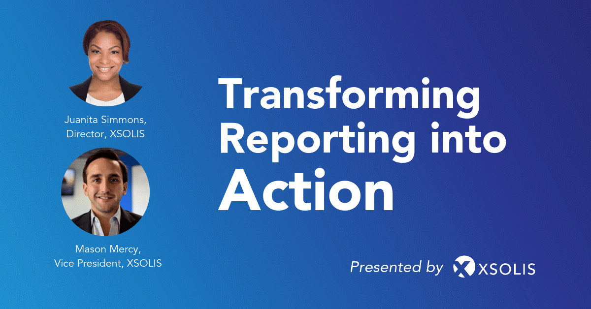 Reporting into Action Webinar Cover